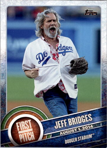 Photo of 2015 Topps First Pitch #FP01 Jeff Bridges