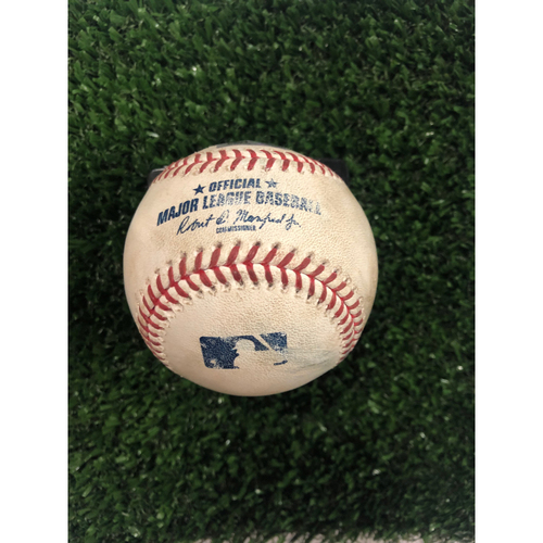Photo of Dansby Swanson Game Used Hit Single Baseball - June 14, 2019