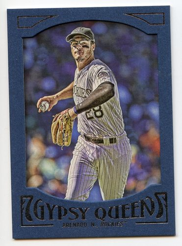 Photo of 2016 Topps Gypsy Queen Framed Blue #17 Nolan Arenado