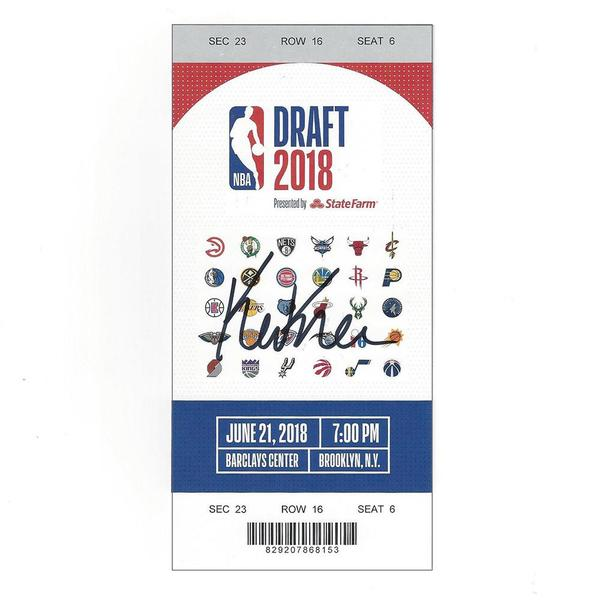 Image of Kevin Knox - New York Knicks - 2018 NBA Draft - Autographed Draft Ticket