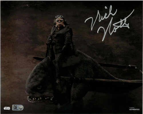 Nick Nolte As Kuiil 8x10 AUTOGRAPHED IN 'Silver' INK PHOTO