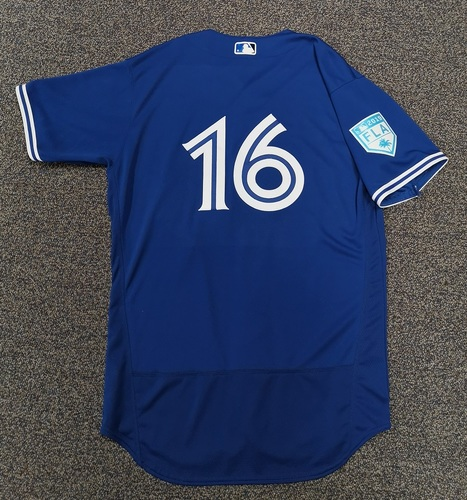 Photo of Authenticated Team Issued 2019 Spring Training Jersey - #16 Guillermo Martinez. Size 46.