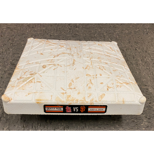 Photo of 2019 Game Used Base - Used on 7/6 vs. St. Louis Cardinals - 3rd Base - Innings 1-3