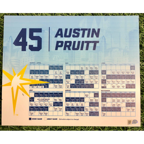 Photo of Rays Baseball Foundation: Team Issued Locker Tag: Austin Pruitt - 2019 Season