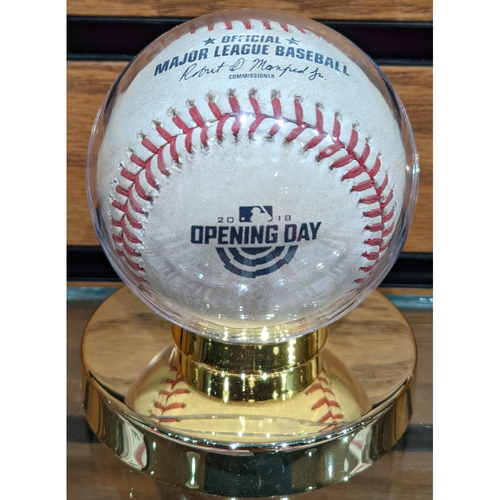Photo of 2018 Opening Day Red Sox vs. Rays April 5, 2018 Game Used Baseball