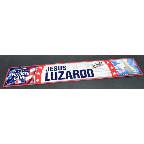 Photo of 2018 Futures Game - Game-Used Locker Name Plate - Jesus Luzardo - 7/15/2018