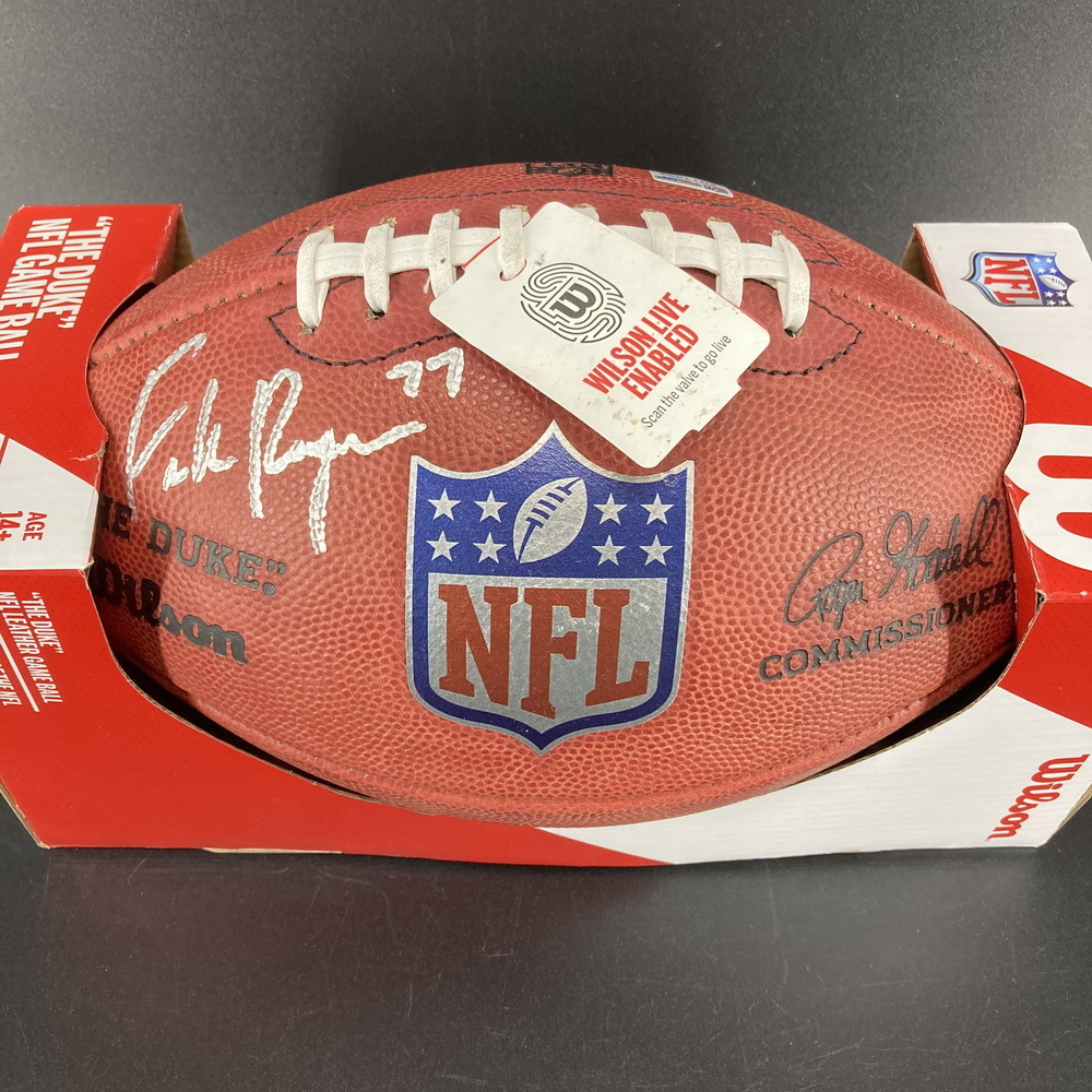 NFL - Lions Frank Ragnow Signed Authentic Football