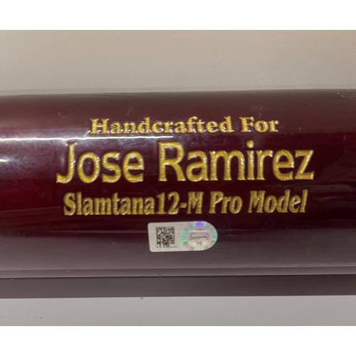 Photo of Game Used Broken Bat - Jose Ramirez breaks bat off pitcher Pete Fairbanks - 7/7/2021- Indians at Rays