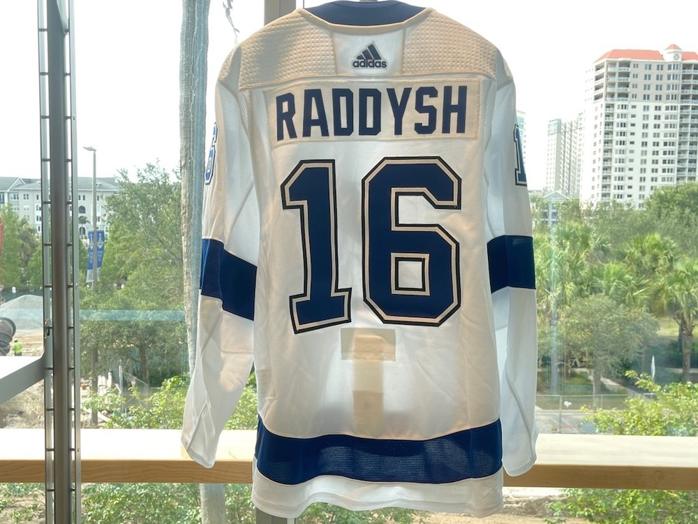 #16 Taylor Raddysh Tampa Bay Lightning 2021 Stanley Cup Final Game-Issued Jersey