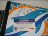 DOLPHINS - JASON FOX SIGNED DOLPHINS PREMIUM PENNANT (CREASES ON PENNANT)