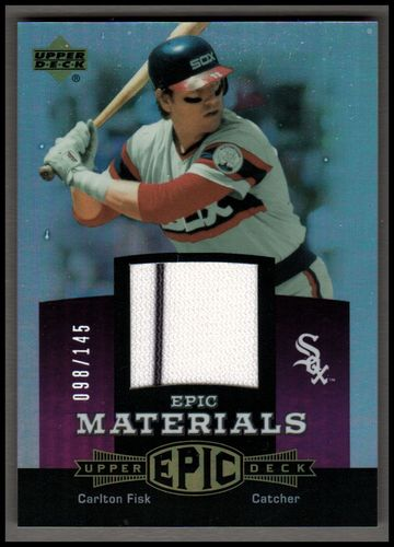 Photo of 2006 Upper Deck Epic Materials Light Purple #CF Carlton Fisk Jsy/145