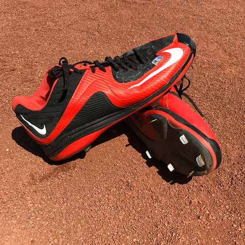 Photo of San Francisco Giants - Autographed Player Collected Cleats - Jeff Samardzija