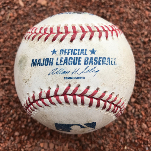 San Francisco Giants - Game-Used Baseball from Barry Bonds 714 Homerun Game