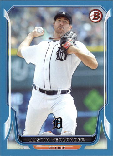 Photo of 2014 Bowman Blue #146 Justin Verlander 105/500-- Astros post-season