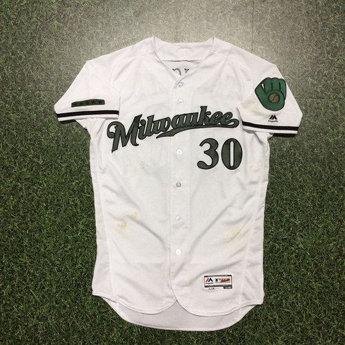 Photo of Craig Counsell 2017 Game-Used Memorial Day Tribute Jersey