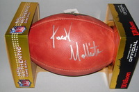 NFL - PATRIOTS JACOB HOLLISTER SIGNED AUTHENTIC FOOTBALL