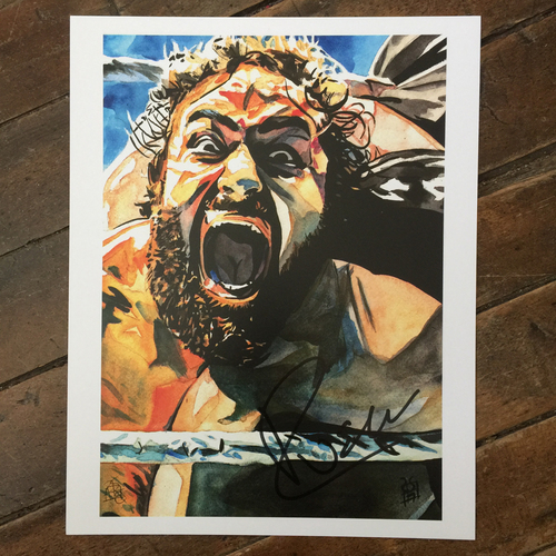 Photo of Rusev SIGNED 11 x 14 Rob Schamberger Print