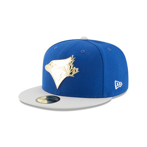 7cb10d23e92 Toronto Blue Jays Golden Finish Fitted Cap by New Era