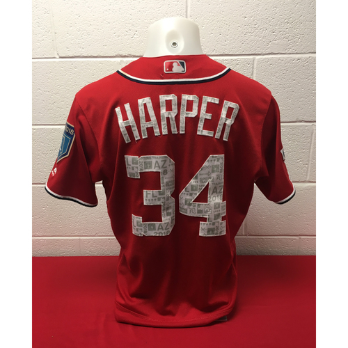 Photo of Game-Used Spring Training Jersey: Bryce Harper