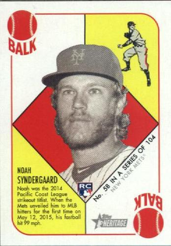 Photo of 2015 Topps Heritage '51 Collection #58 Noah Syndergaard Rookie Card