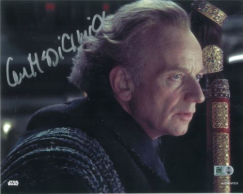 Ian McDiarmid As Senator Palpatine 8X10 Autographed in Silver Ink Photo