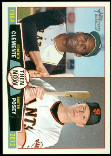 Photo of 2013 Topps Heritage Then and Now #CP Roberto Clemente/Buster Posey