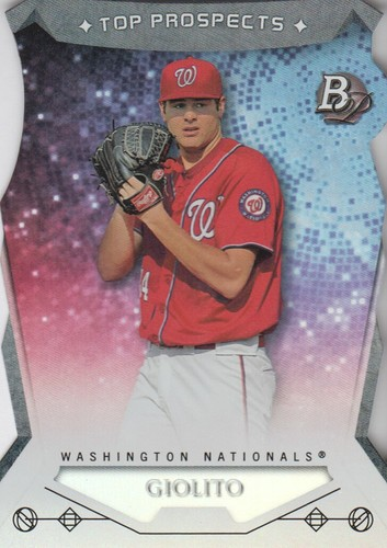 Photo of 2014 Bowman Platinum Top Prospects Die Cuts #TPLG Lucas Giolito