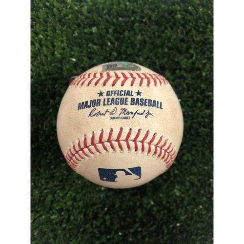 Josh Donaldson Game Used Hit Single Baseball - June 18, 2019