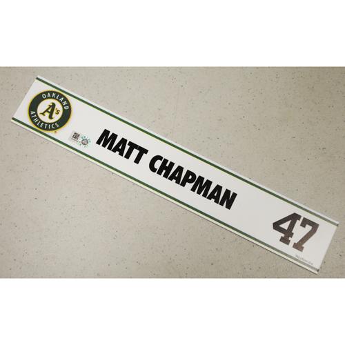 Photo of Matt Chapman Spring Training Locker Nameplate