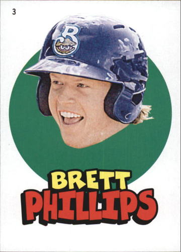 Photo of 2016 Topps Heritage Minors '67 Topps Stickers #3 Brett Phillips
