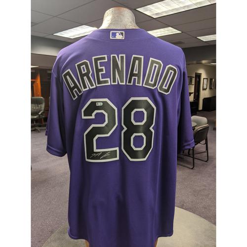 Photo of Colorado Rockies Autographed Alternate Purple Jersey: Nolan Arenado