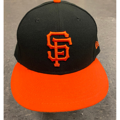 Photo of 2019 Game Used Cap - Orange Bill Alternate Cap - worn by #40 Madison Bumgarner - Authenticated on 9/27/19 vs LAD  - size 7 1/2