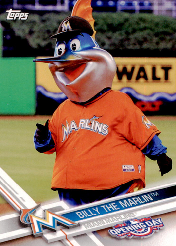 Photo of 2017 Topps Opening Day Mascots #M2 Billy the Marlin