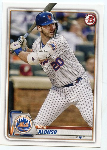 Photo of 2020 Bowman #98 Pete Alonso