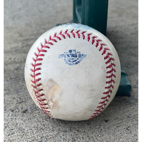 Colorado Rockies Game-Used Baseball - Pitcher: Kirby Yates, Batter: Charlie Blackmon (Single to Tommy Pham), Batter: Nolan Arenado (Single to Trent Grisham) - Home Opener, July 31, 2020 vs. San Diego Padres