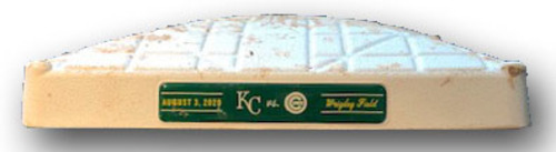 Photo of Game-Used 1st Base -- Used in Innings Bottom 5 through 9 -- On-Field for Bryant 1st HR of Season -- Royals vs. Cubs -- 8/3/2020