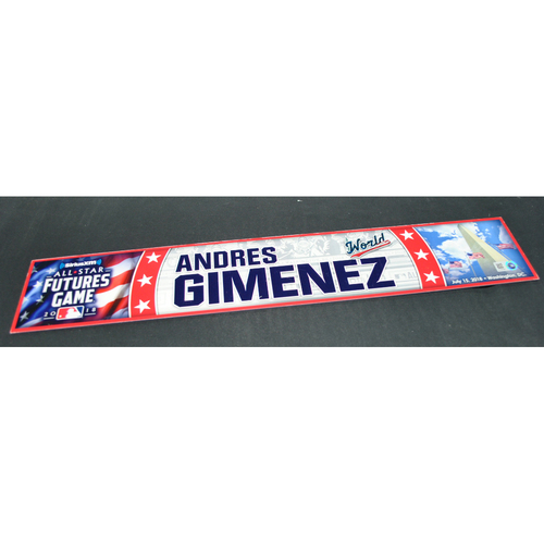 Photo of 2018 Futures Game - Game-Used Locker Name Plate - Andres Gimenez - 7/15/2018