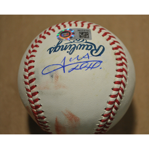 Photo of MLB Players Youth Development Foundation: 2021 T-Mobile Home Run Derby Used & Autographed Baseball - Juan Soto, Round 1 Out