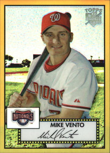 Photo of 2006 Topps 52 Chrome Gold Refractors #52 Mike Vento