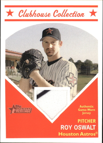 Photo of 2008 Topps Heritage Clubhouse Collection Relics #RO Roy Oswalt D