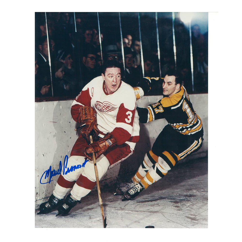 MARCEL PRONOVOST Signed Detroit Red Wings 8 X 10 Photo - 70054