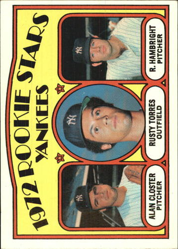 Photo of 1972 Topps #124 Rookie Stars/Alan Closter/Rusty Torres RC/Roger Hambright RC