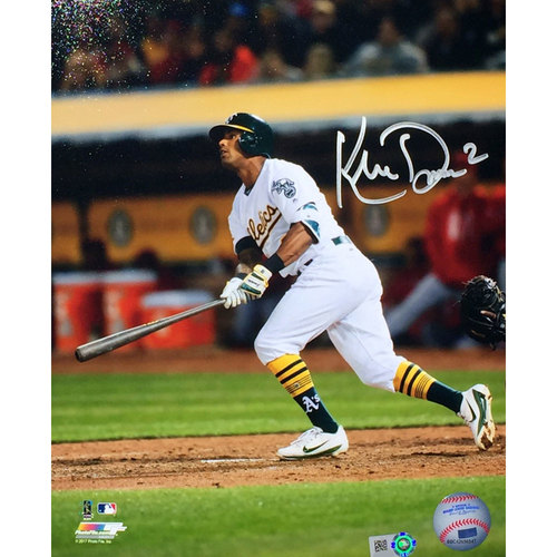 "Photo of Khris Davis ""Batting"" Autographed Photo"