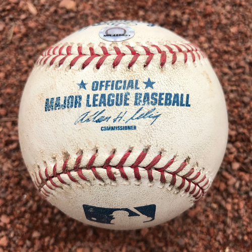 San Francisco Giants - Game-Used Baseball from Barry Bonds 708 Homerun Game