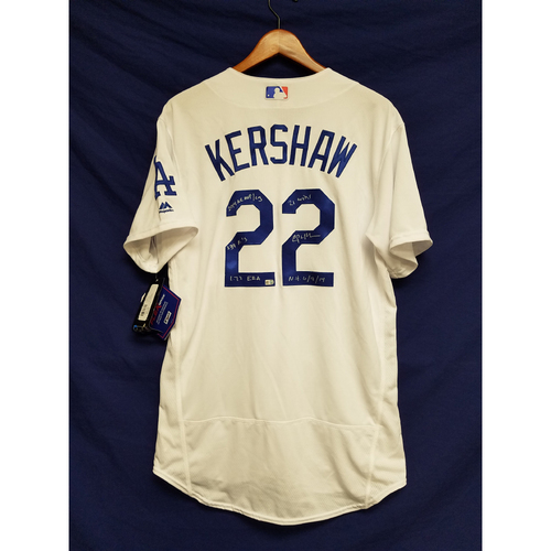 Kershaw's Challenge: Clayton Kershaw 2014 Autographed Home Jersey