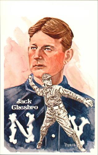 Photo of 1980-02 Perez-Steele Hall of Fame Postcards #41 Jack Chesbro  -- HOF Class of 1946