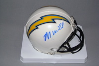 CHARGERS - MIKE WILLIAMS SIGNED CHARGERS MINI HELMET