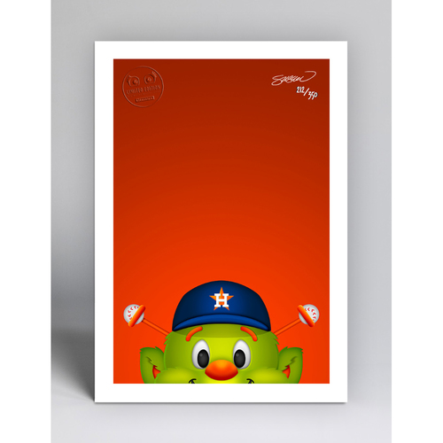 Photo of Orbit - Limited Edition Minimalist Mascot Art Print by S. Preston  - Houston Astros