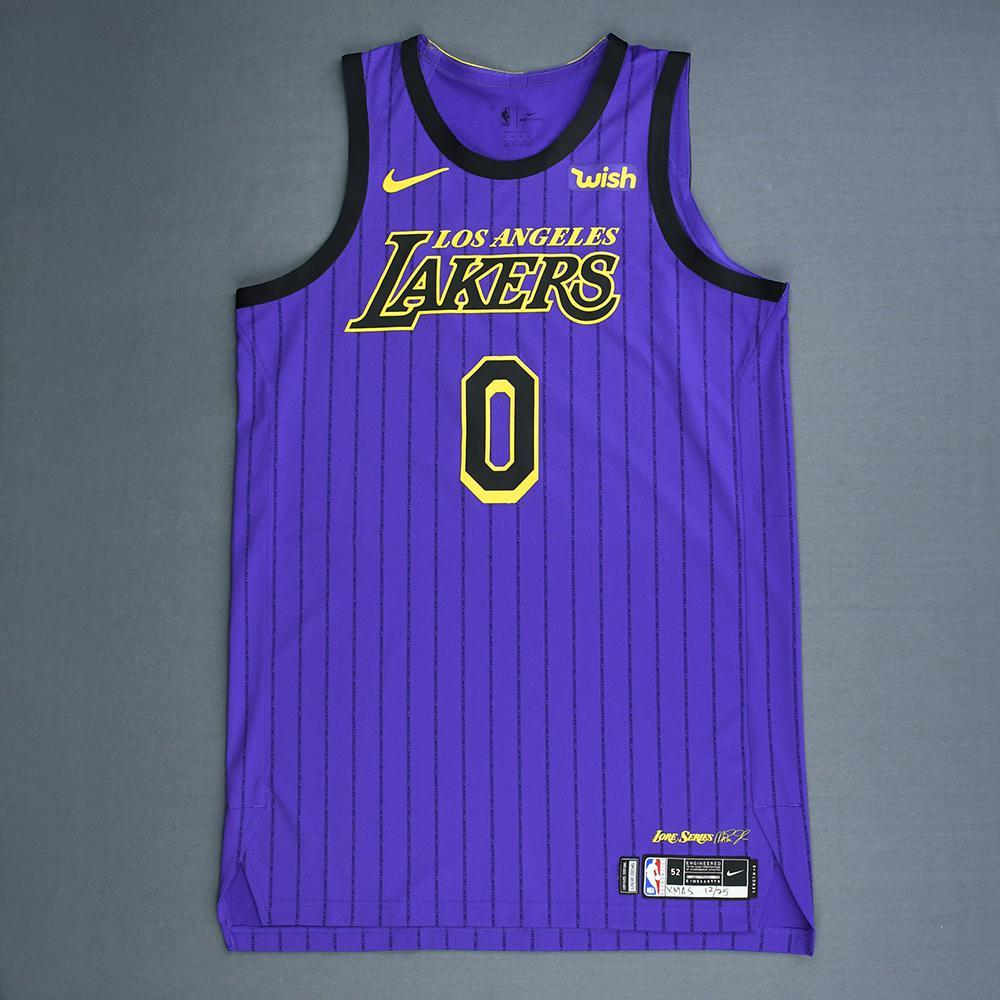 caa40fcb073 Kyle Kuzma - Los Angeles Lakers - Christmas Day  18 - Game-Worn City ...