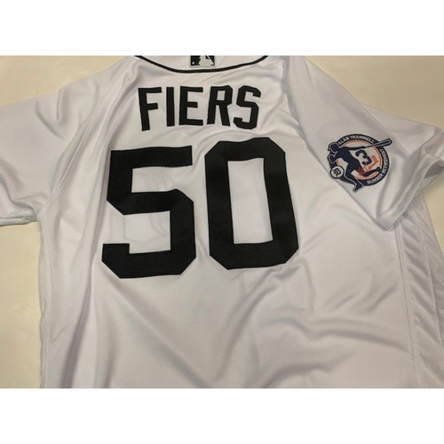 Team-Issued Alan Trammell Number Retirement Day Jersey: Mike Fiers